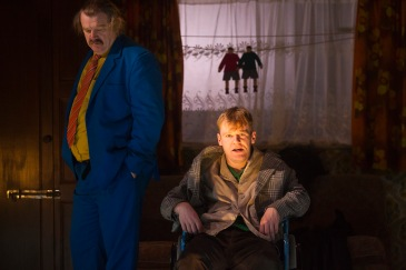 Brendan Gleeson as Dinny and Brian Gleeson as Sean in The Walworth Farce by Enda Walsh, directed by Sean Foley and produced by Landmark Productions. Photo: Patrick Redmond