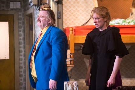 Brendan Gleeson as Dinny and Domhnall Gleeson as Blake in The Walworth Farce by Enda Walsh, directed by Sean Foley and produced by Landmark Productions. Photo: Patrick Redmond